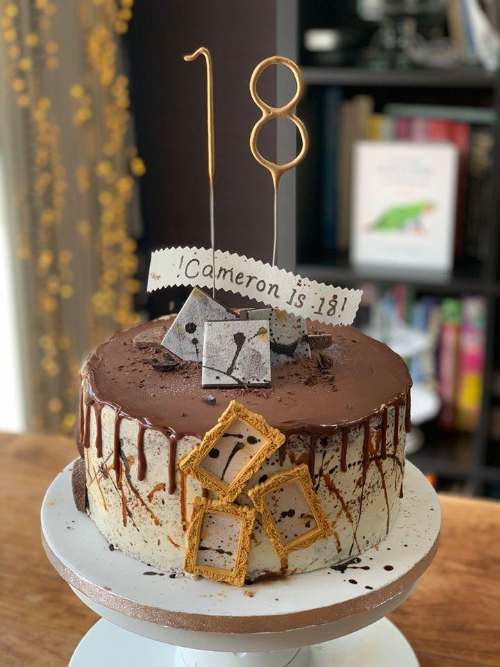 Cameron's 18th birthday cake
