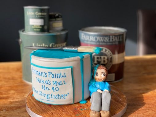 Photo paint tin cake